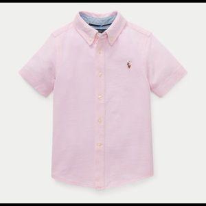 NWT Ralph Lauren Knit Cotton Oxford Shirt Sz. 7